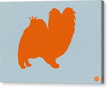 Papillion Orange Canvas Print by Naxart Studio