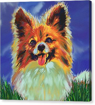 Papillion Puppy Canvas Print by Jane Schnetlage