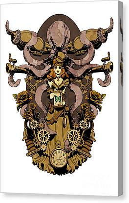 Papillon Mecaniques Canvas Print by Brian Kesinger