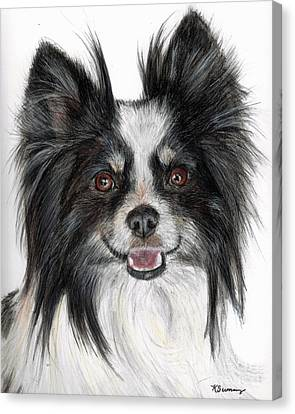 Papillon Painting Canvas Print by Kate Sumners
