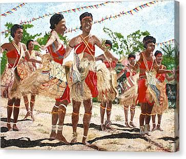 Papua New Guinea Cultural Show Canvas Print