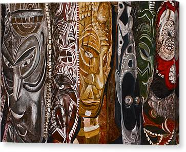 Papua New Guinea Masks Canvas Print