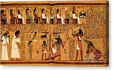 Papyrus Of Ani, Weighing Of The Heart Canvas Print