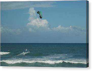 Para Surfing The Atlantic Canvas Print