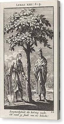 Parable Canvas Print - Parable Of The Barren Fig Tree, Jan Luyken by Jan Luyken And Wed. Pieter Arentsz & Cornelis Van Der Sys (ii)