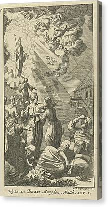 Parable Of The Wise And Foolish Virgins, Anonymous Canvas Print