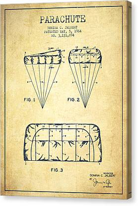 Parachute Design Patent From 1964 - Vintage Canvas Print