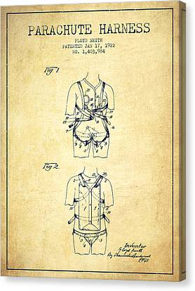Parachute Harness Patent From 1922 - Vintage Canvas Print by Aged Pixel
