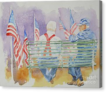 Canvas Print featuring the painting Parade Day by Mary Haley-Rocks