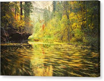 Parade Of Autumn Canvas Print by Peter Coskun