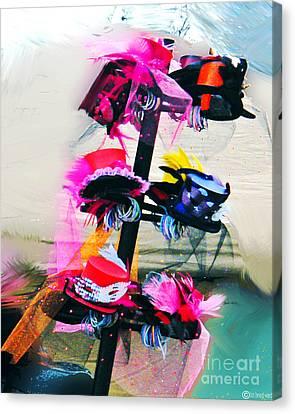 Parade Of Hats Spanish Town Mardis Gras Canvas Print by Lizi Beard-Ward