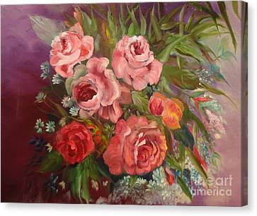 Parade Of Roses Canvas Print