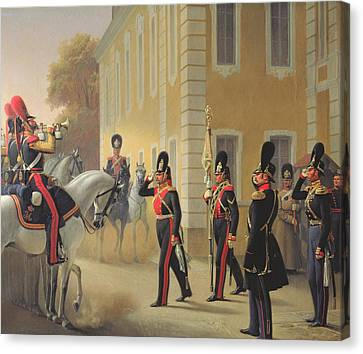 Parading Of The Standard Of The Great Palace Guards Canvas Print