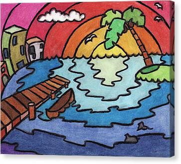 Paradise Canvas Print by Ashley King