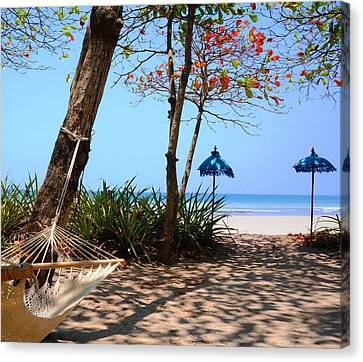 Paradise Beach Canvas Print by Julia Ivanovna Willhite