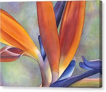 Paradise Bird Canvas Print by Sandy Haight