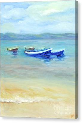 Canvas Print featuring the painting Paradise Island  by Barbara Anna Knauf