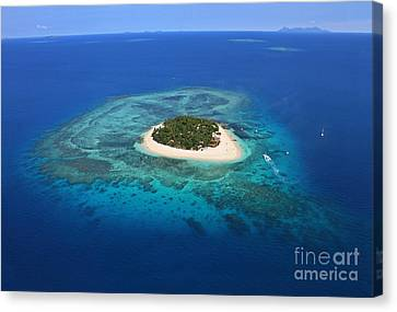 Paradise Island In South Sea I Canvas Print by Lars Ruecker