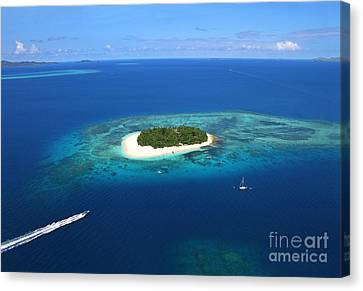 Paradise Island In South Sea II Canvas Print by Lars Ruecker