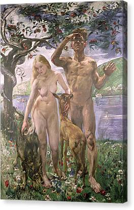Paradise Canvas Print by Lovis Corinth