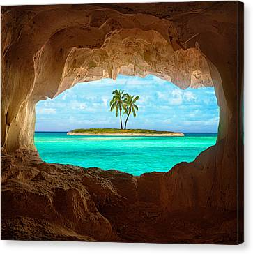 Palm Tree Canvas Print - Paradise by Matt Anderson