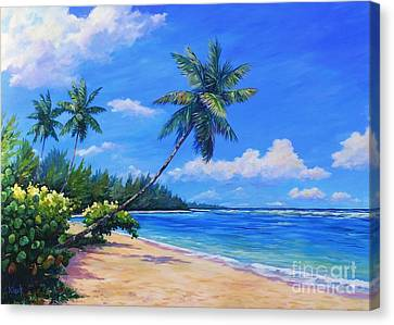 Paradise Palms Canvas Print by John Clark