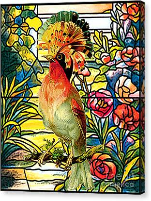 Tropical Colors Stain Glass Canvas Print - Paradise Perch by Tammera Malicki-Wong