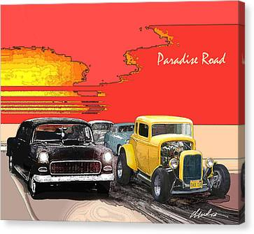 1960 Movies Canvas Print - Paradise Road by Barry Cleveland
