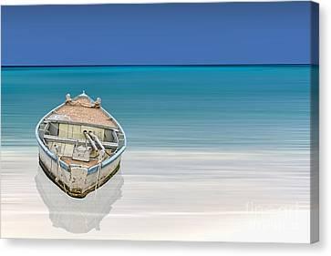 Row Boat Canvas Print - Paradise by Sheldon Kralstein