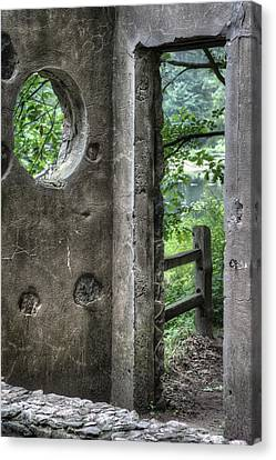 Paradise Springs Spring House Doorway 2 Canvas Print by Jennifer Rondinelli Reilly - Fine Art Photography