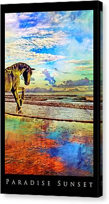 Paradise Sunset Canvas Print by Betsy Knapp