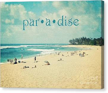 Canvas Print featuring the photograph Paradise by Sylvia Cook