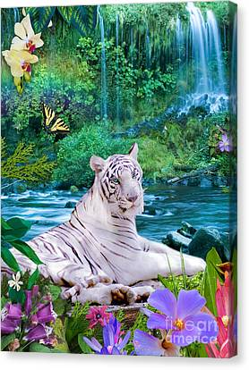 Paradise Tiger Canvas Print by Alixandra Mullins
