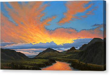 Paradise Valley Sunset  Canvas Print by Paul Krapf