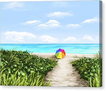 Paradise Canvas Print by Veronica Minozzi