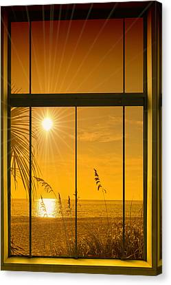 Paradise View II Canvas Print by Melanie Viola