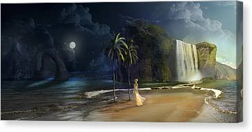 Paradise Canvas Print by Virginia Palomeque