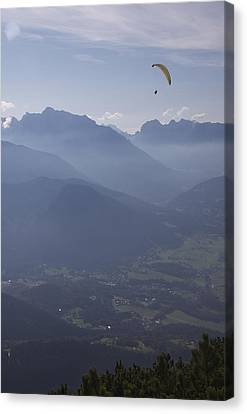 Paraglider's View Canvas Print