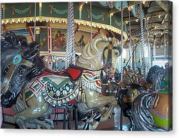 Rose Cottage Gallery Canvas Print - Paragon Carousel Nantasket Beach by Barbara McDevitt