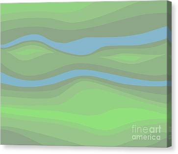 Parallel Streams Topo Canvas Print by Henry Manning