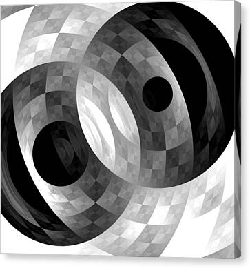 Canvas Print featuring the digital art Parallel Universes by Martina  Rathgens