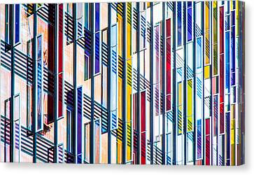 Parallels And Rectangles Canvas Print by Adam Pender
