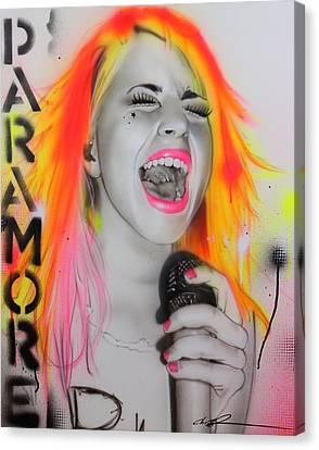 Hayley Williams - ' Paramore ' Canvas Print