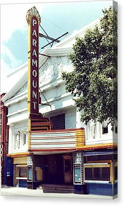 Paramount Theater In Baton Rouge Canvas Print