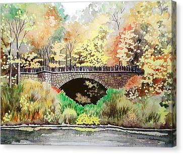 Parapet Bridge - Mill Creek Park Canvas Print