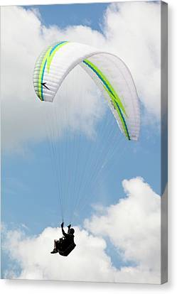 Exhilarating Canvas Print - Paraponters Flying From Pendle Hill by Ashley Cooper