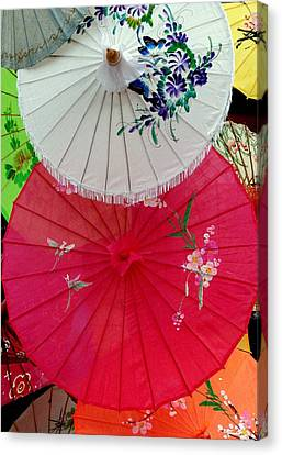 Parasols 1 Canvas Print by Rodney Lee Williams