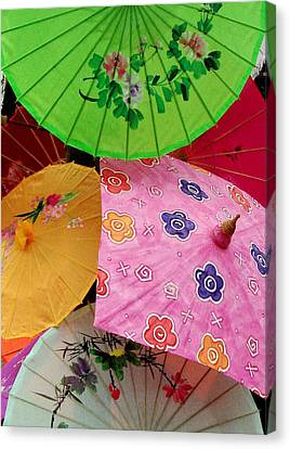 Parasols 2 Canvas Print by Rodney Lee Williams