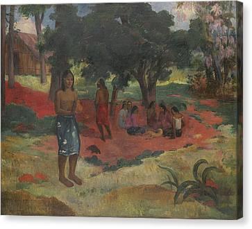Parau Parau , 1892 Canvas Print by Paul Gauguin