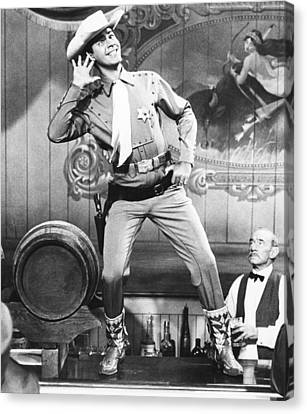 1956 Movies Canvas Print - Pardners, Jerry Lewis, 1956 by Everett